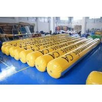 Wholesale Yellow Inflatable Tubes With 0.9mm Durable Commercial Grade PVC Tarpaulin from china suppliers