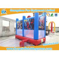 China Spider man inflatable bouncer castle for commercial event / inflatable castle with slide on sale
