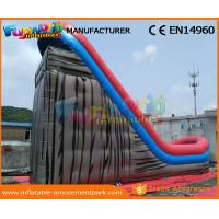 CE Inflatable Wet Slide Grey 0.55MM PVC Tarpaulin Inflatable Slide With Pool
