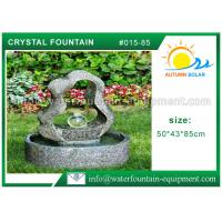 Buy cheap Outdoor Ornament Cast Stone Outdoor Fountains With Crystal Ball 50*43*85cm from wholesalers