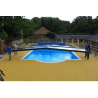 China Swimming Pool Rubber Flooring , Corrosion Resistant Rubber Pellet Flooring on sale