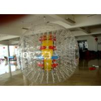 China Adult 0.9 mm PVC Transparent Unti-coldness Water Zorbing Ball For Amusement Park on sale