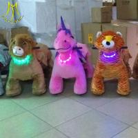 Quality Hansel   hot selling electric plush animal dog rides Guangzhou factory for sale