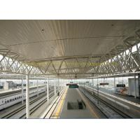 Galvanized steel truss space frame bus/train station
