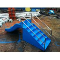 Wholesale 0.9M High Plastic Kids Water Slides , Children Double Water Slide With Stair from china suppliers