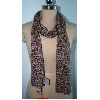 Buy cheap Fashion Ladies Scarf , Leopard Print Silk Scarf Soft Hand Feeling from wholesalers