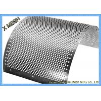 China 2mm Stainless Steel Perforated Metal Mesh Sheet Round Hole Punched Openings on sale