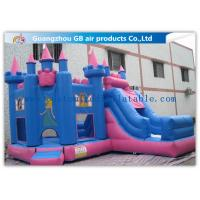 China Lovely Indoor / Outdoor Princess Bounce House Inflatable With Slide For Little Kids on sale