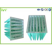 Wholesale Light Weight Pocket Air Purifier Filters High Efficiency G4 - F9 Aluminium Frame from china suppliers