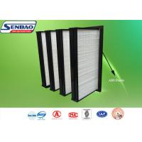 Wholesale Air Handling Unit V Shape Fiberglass Air Filters Medium Efficiency In HVAC System from china suppliers