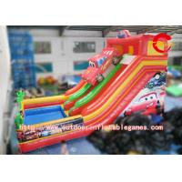 China Interactive Games Bright Color Inflatable Commercial Bounce House With Slide on sale