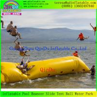 Quality Big Colorful Lake water Air Bag Inflatable Water Launch Jump Blob For Sale for sale