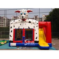Wholesale Outdoor N indoor spotted dog inflatable bounce house with slide for family yard parties from china suppliers