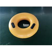 China PVC Inflatable Swim Ring With Handles , Water Float Donut Swim Ring For Pool on sale