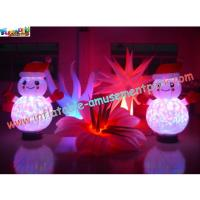 China Outdoor / Indoor Popular LED RGB Changing Inflatable Decoration With Remote Control on sale