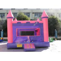 Wholesale 0.55mm PVC Pink And Purple Inflatable Jumping Castle Bounce House For Child from china suppliers