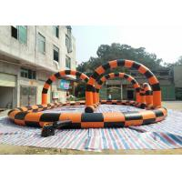 Wholesale Plato 0.55mm PVC Inflatable Sports Field , Inflatabel Hamster Ball Track 22mL*15mW*4mH from china suppliers