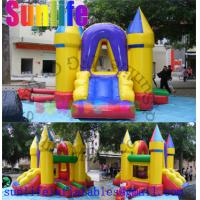 Wholesale Mini Yellow Inflatable Bouncer Slide Combo , Bouncy Castles With Slide For Fun from china suppliers