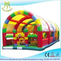 China Hansel Kids giant inflatable playgrounds on sale on sale