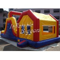 Wholesale Yellow Kids Inflatable Combo Jumping Bounce Houses Advertisement With Blower from china suppliers