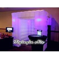 Wholesale Cheap White Lighting Inflatable Photo Booth with Two Doors for Sale from china suppliers
