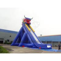 Buy cheap Large Inflatable Dino Slide Double Long Inflatable Slide At Amusement Park Games from wholesalers