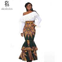Wholesale african design dresses Off The Shoulder African Batik Print Dress For Women from china suppliers