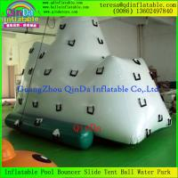 Wholesale HOT!!! Giant Inflatable Floating Iceberg Aqua Tower Mountain Inflatable Iceberg Climbs from china suppliers
