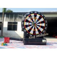 China Round 3m Arrows Target Inflatable Sport Game With Plato PVC 0.55mm Black on sale