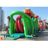 Wholesale Chameleon Design Inflatable Adventure Park , Inflatable Bounce House With Slide from china suppliers