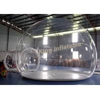 Wholesale 0.65mm PVC Transparent Inflatable Tent Clear Air Bubble Tent With Single Layer from china suppliers