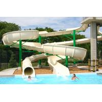Wholesale Open Fiberglass Water Slides White Two Line Tube Available White from china suppliers