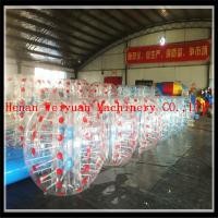 China High quality football games RED and BLUE inflatable human bubble balls bumper balls/soccer bubbles on sale