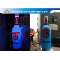 Wholesale Giant 5mH PVC Airtight Promotion Inflatable Olmeca Drink Bottle With Led Light from china suppliers