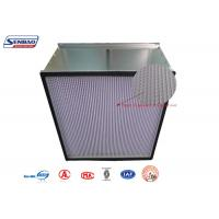 China Disposable Galvanized Steel Frame High Efficiency Air Filter with HV Fiberglass Media on sale