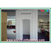 China Oxford Cloth Inflatable Photo Booth With Led Lighting For Taking Pictures on sale