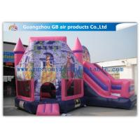 China Lovely Pink Princess Inflatable Bouncy Castle Kids Games CE / UL Certification on sale