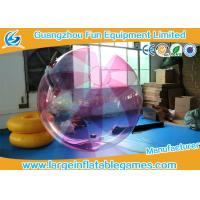 China Striped Color TPU Inflatable Water Walking Ball Walk On Water Ball With Logo Printing on sale