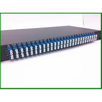 Wholesale 12pcs 1*8  Fiber Optic PLC Splitter in  1U 19' Rack Mount with LU connector for FTTX CATV from china suppliers
