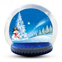 4m Big Inflatable Lawn Snow Globe / Blow Up Snow Globe Decoration