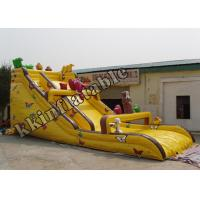 China Yellow Cheap Inflatable Dry Slide / Amusement Park Inflatable Water Slide on sale