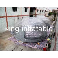 China 1.0 Mm PVC Transparent Inflatable Air Tent  5m Diameter CE Approval on sale