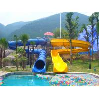 Wholesale Fadeless Waterpark Equipment, Fiberglass Open / Close Spiral Slide Kids Water Slides 11m Height from china suppliers