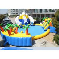 Wholesale Large Frame Giant Inflatable Water Park With Slide Pool Climbing Wall Anti Tear from china suppliers