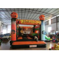 Inflatable Halloween Pumpkin Theme Minnie Mouse Jumping Castle , Waterproof Water Jumping Castle