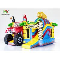 China Blow Up Combo Car Jumper Inflatable Jumping Castle Bounce House With Slide on sale