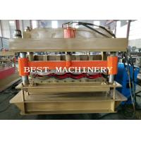 Wholesale Guide Pillar YX-828 Glazed Roof Tile Roll Forming Machine PLC Control from china suppliers