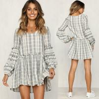 Wholesale Women Clothing 2018 Long Sleeve Cotton Summer Casual Dresses from china suppliers