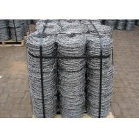 Wholesale Double Strands Electro Hot Dip Galvanzied Barbed Iron Wire 4 Inch Distance from china suppliers