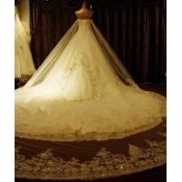 Wholesale Sweetheart sleeveless Ladies Wedding Dresses , Diamond cathedral train wedding gowns from china suppliers
